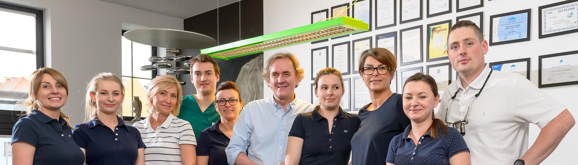 Das Team der Zahnklinik Stettin